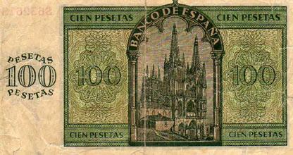 valor billete 100 peseta 1907: