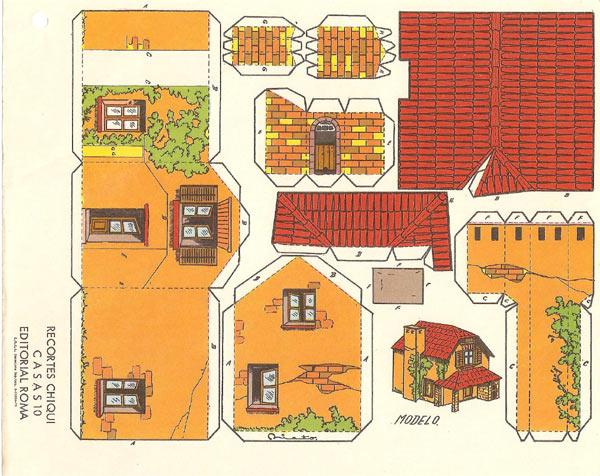 Recortables casas construcciones rafael castillejo zaragoza - Casa grande zaragoza ...